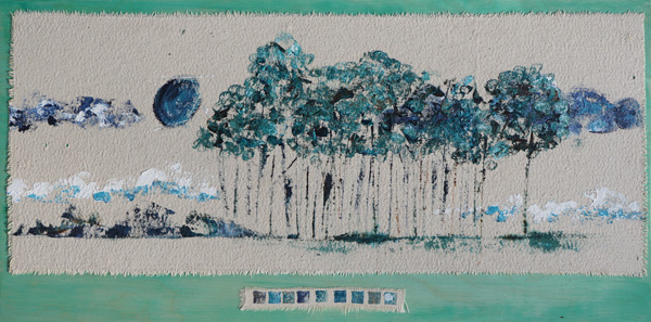 Andrea Trace Forest, Acrylic on raw canvas